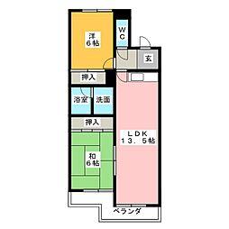 サークルコープ[3階]の間取り