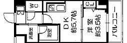 セルン新町 6階1DKの間取り