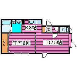 北海道札幌市東区北三十九条東17丁目の賃貸アパートの間取り