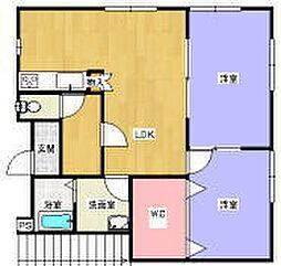 兵庫県三木市大塚1丁目の賃貸アパートの間取り