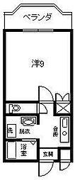 サンライズ田野[202号室]の間取り