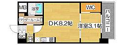 コンフォリア扇町[3階]の間取り