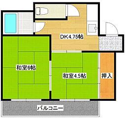 マンションサンエース[4階]の間取り