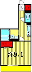 (仮)D-room吉川市保一丁目 1階1Kの間取り