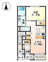 裾野市金沢 新築アパート[00102号室]の間取り