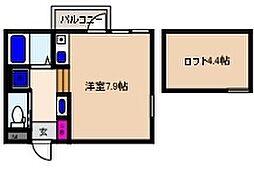 ヴィレッタ魚崎[101号室]の間取り