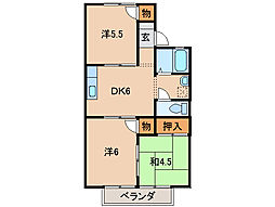 ハイツサンライトII[2階]の間取り