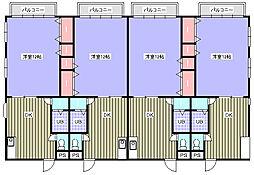 花沢ビル[3-D号室]の間取り