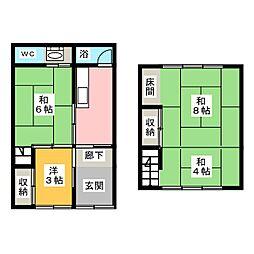 [一戸建] 愛知県岩倉市中本町中北裏 の賃貸【/】の間取り