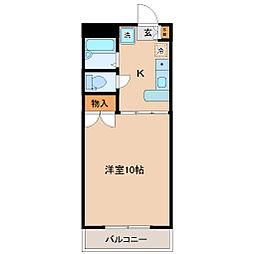 宮千代アベニュー[2階]の間取り