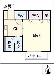 サンホーム[2階]の間取り
