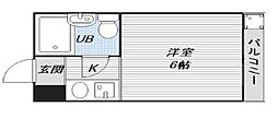 シティパレス駒川中野[1階]の間取り