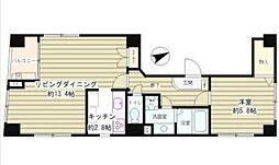 東京都品川区戸越5丁目の賃貸マンションの間取り