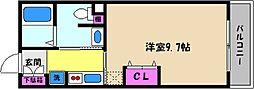 兵庫県神戸市東灘区森南町1丁目の賃貸マンションの間取り