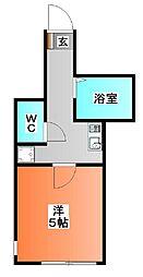 東京都北区赤羽西4の賃貸アパートの間取り