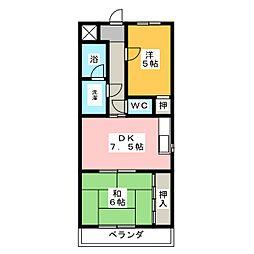 アビタシオンアムール[3階]の間取り