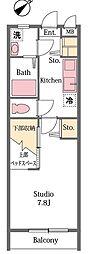 埼玉県東松山市小松原町の賃貸アパートの間取り