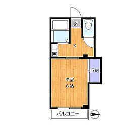 東京都足立区西保木間2丁目の賃貸マンションの間取り