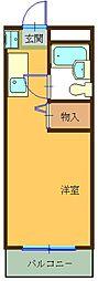 ハイツ東山A[407号室]の間取り