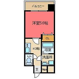 グランシス高井田[306号室]の間取り