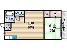 三吉マンション[2階]の間取り