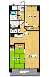 宿郷2丁目 2LDK マンション[5階]の間取り