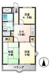 熊澤コーポ[3階]の間取り