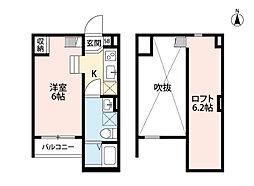 Lazward HigashiOsaka[1階]の間取り