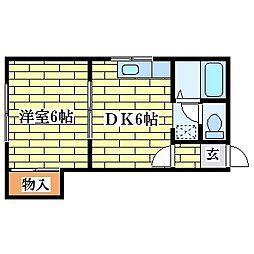 GROOVIN壱番館[2階]の間取り