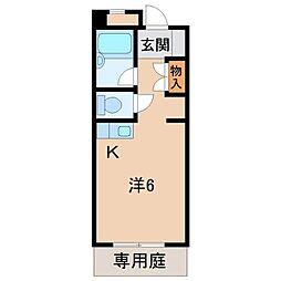 カーサー川口[1階]の間取り