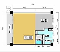 カクサンビル[5階]の間取り