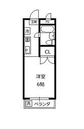 サンハイム石坂[202号室]の間取り