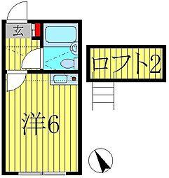 スカイピア亀有A[1階]の間取り