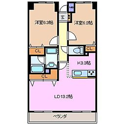松本ダイヤマンション[2階]の間取り