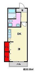 中村ビル[6階]の間取り