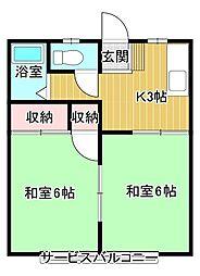 レジデンスサトウA[2階]の間取り