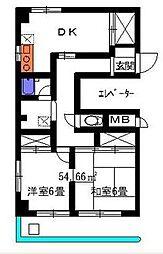 メゾン久保富 bt[3階]の間取り