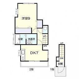 Room KI[B号室号室]の間取り
