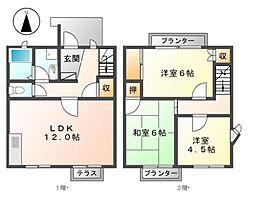 [タウンハウス] 愛知県名古屋市西区比良2丁目 の賃貸【/】の間取り