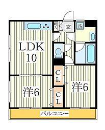 オークレア[3階]の間取り