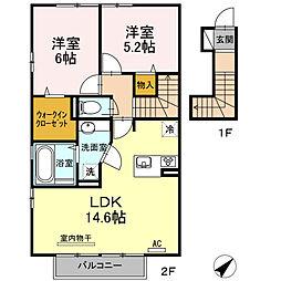 サンガーデンU[2階]の間取り