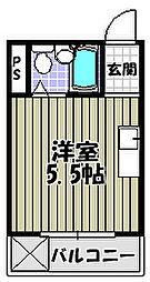 ユーキビル[3階]の間取り