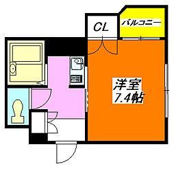 エンゼルハイツ・小阪本町 503号室[5階]の間取り