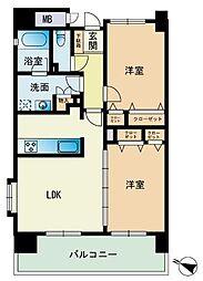エコルクス赤坂II[12階]の間取り