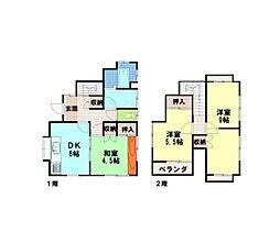 [一戸建] 神奈川県茅ヶ崎市松が丘1丁目 の賃貸【/】の間取り