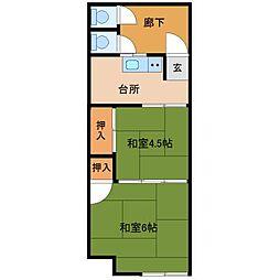 八坂アパート[2階]の間取り