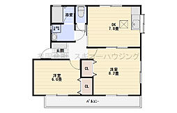 神奈川県平塚市徳延の賃貸アパートの間取り