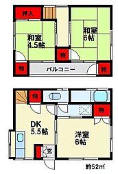 [一戸建] 福岡県大野城市東大利3丁目 の賃貸【福岡県 / 大野城市】の間取り