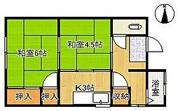 寿アパート[5号室]の間取り