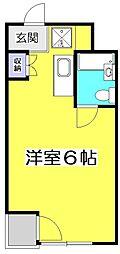 アメニティコウヤマ第6ガーデン[1階]の間取り